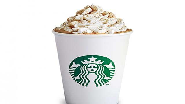 A provided photograph showing a Starbucks Pumpkin Spice Latte. (Credit: Starbucks)