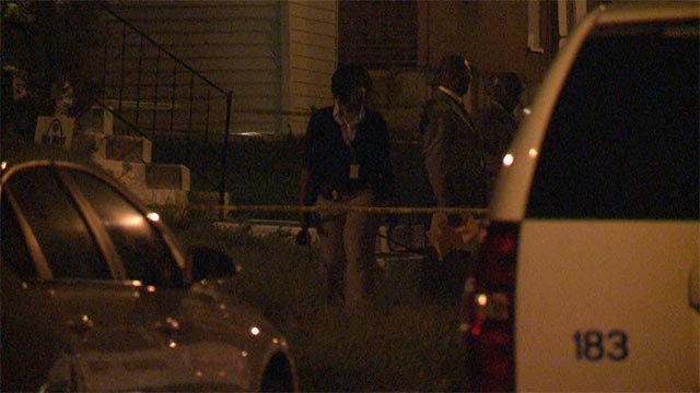 Homicide was requested after a man was shot in the 5420 block of Wabada Monday night