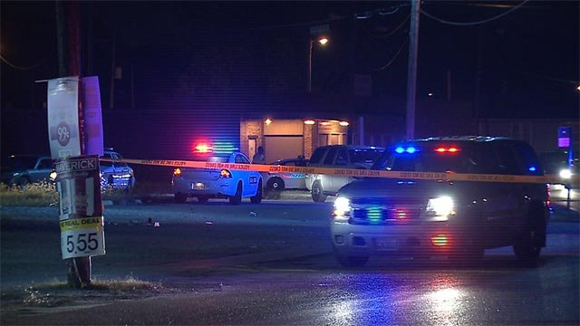The shooting reportedly happened in the 4600 block of Bond Avenue after 10:00 Monday night.