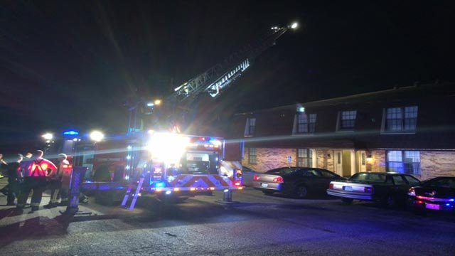 The Springdale Gardens Apartments, located on Fielder Court, caught fire just after 3 Wednesday morning