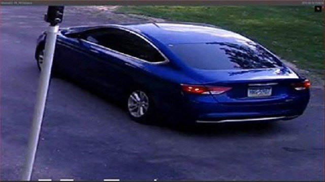 After reviewing the surveillance footage detectives were able to determine the vehicle was a late model blue Chrysler 2000 with a Pennsylvania registration.