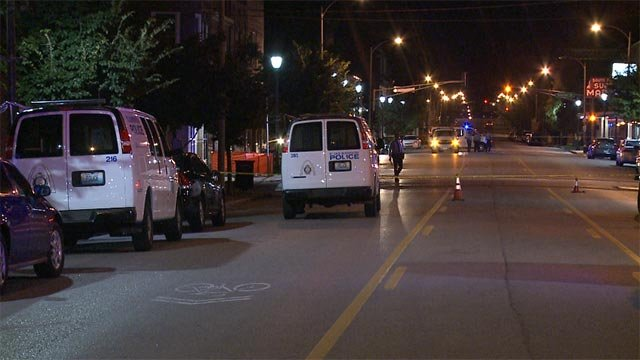 A man died after sustaining gunshot wounds in the 7600 block of South Broadway Monday morning