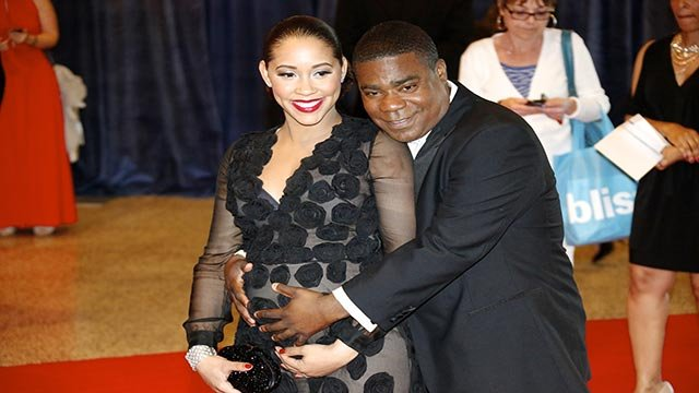 Actor Tracy Morgan and Meghan Wollover on the red carpet at the 2013 White House Correspondents Dinner. (Credit: Brian Yaklyvich/CNN)