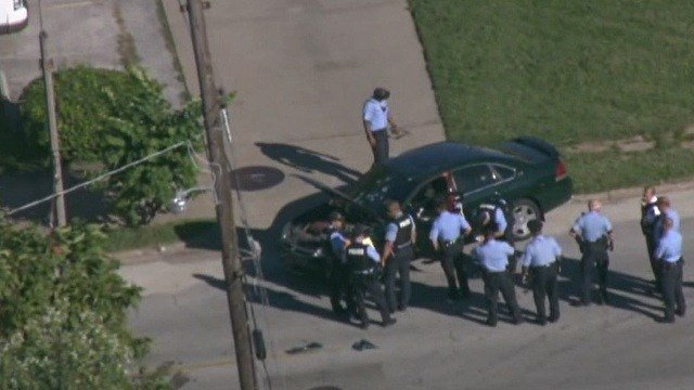 Police responded to the scene of a shooting in North St. Louis Monday afternoon