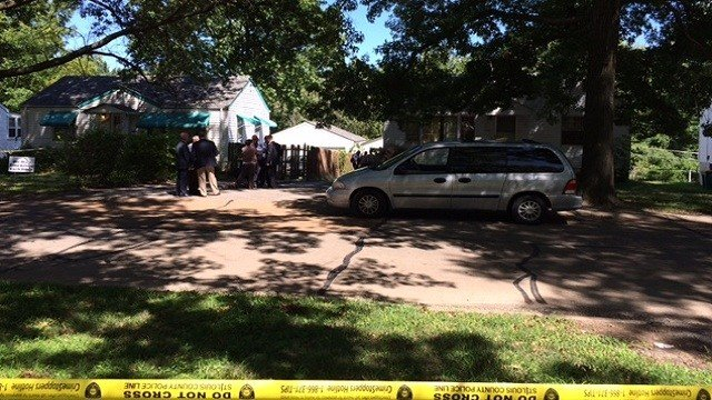 Police detectives responded to the scene of a shooting that killed a child in the 7700 block of Utica Tuesday
