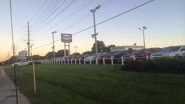 Several vehicles were taken from the Johnny Londoff lot, located in the 1370 block of Dunn Road, early Wednesday morning