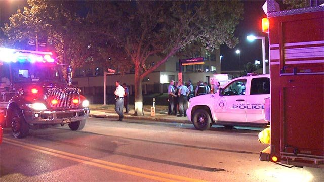 A man was shot in the chest around 10:00 p.m. near the intersection of 18th and Clark.