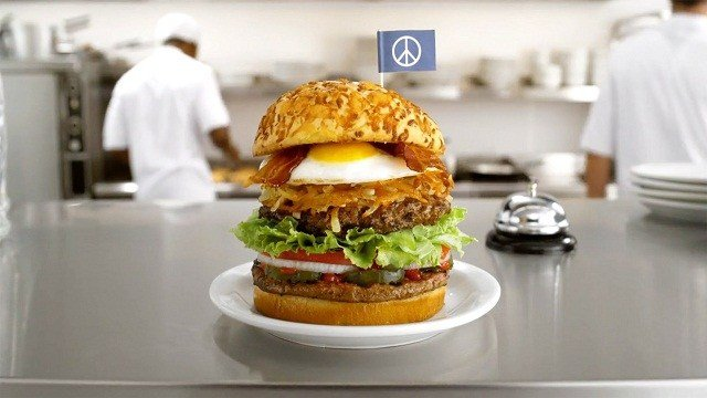 McDonald's shunned Burger King's offer to make a McWhopper for Peace Day on September 21, 2015 but Denny's stepped up on Monday.
