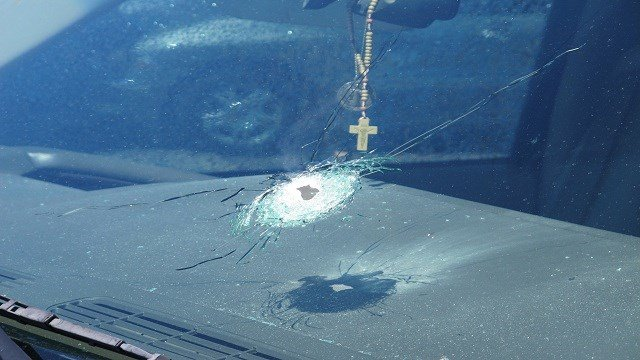 Somebody has shot four moving vehicles on I-10 in Phoenix in the last three days, Arizona Department of Public Safety Director Frank Milstead said Monday.