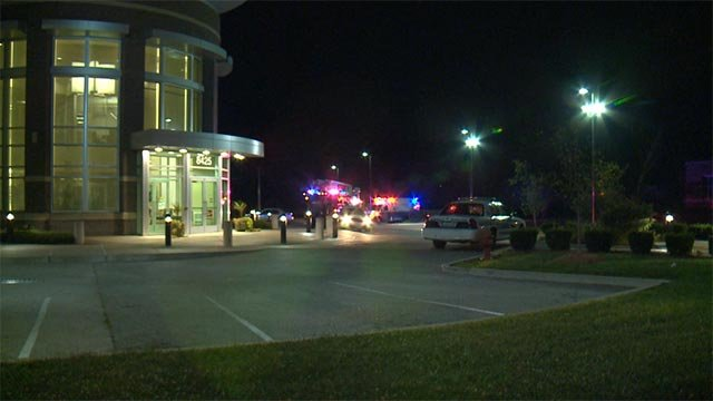 The man arrived at the building, located in the 8400 block of Airport Road, around 10 p.m.