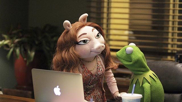 Kermit the Frog and Miss Piggy broke up in early August, 2015, and Kermit has been reported to be seeing an ABC marketer named Denise, according to a People magazine story  (Credit: Andrea McCallin/ABC)