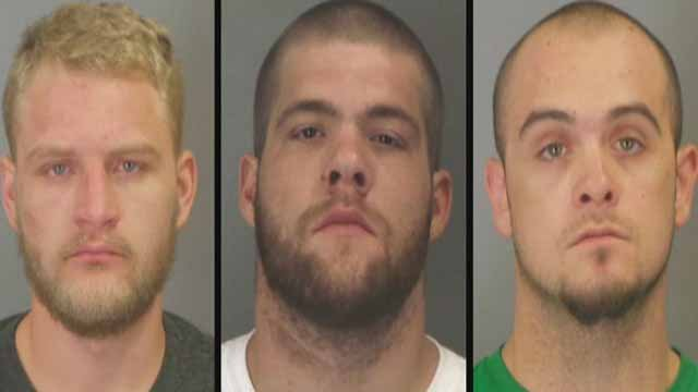 Kyle Porter, 23, Daniel Manasco, 24, and William Loncaric, 24, are charged with theft and receiving stolen property. They allegedly stole many items from garages in Jefferson County