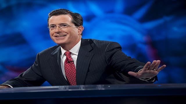 """The final episode of """"The Colbert Report"""" aired Thursday night, Dec. 18, 2014 on Comedy Central. (Credit: Scott Gries/Comedy Central)"""
