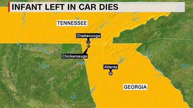 An 11-month-old boy died in Chickamaunga, Georgia, Saturday, September 5, 2015, when his grandparents forgot him in the car for two hours, police said. The Walker County Sheriff said early indications show the boy's death was accidental.