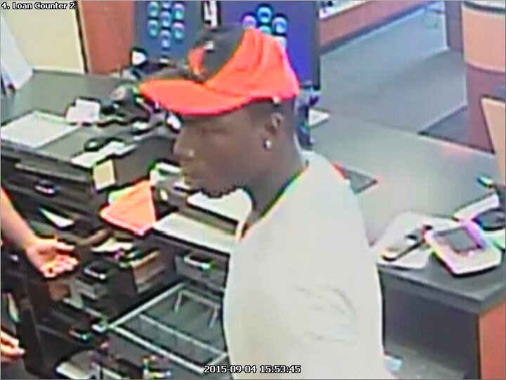 The St. Louis County Police Department is searching for the man they say robbed the Cash America Pawn on St. Charles Rock Road in St. Louis.