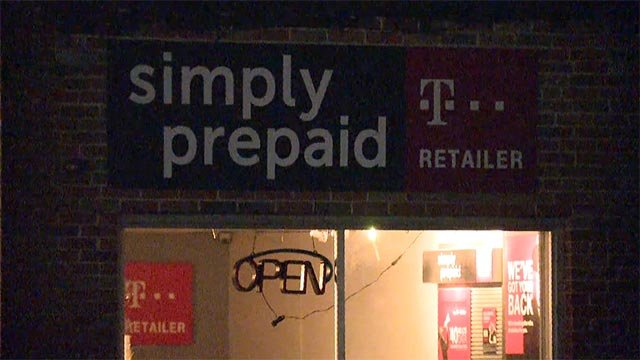 Authorities received a burglar alarm at a wireless phone store in the 9900 block of Halls Ferry just before 5 a.m.