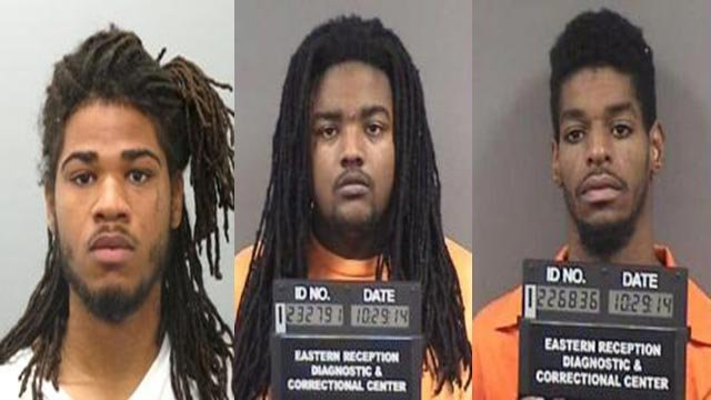 Keenan Thomas, 23, and Brandon Foster, 22, and Eugene Davis, 23, broke into Allstar Pawn around 4:15 a.m. on October 16 and stole 33 firearms, according to statements made in court.