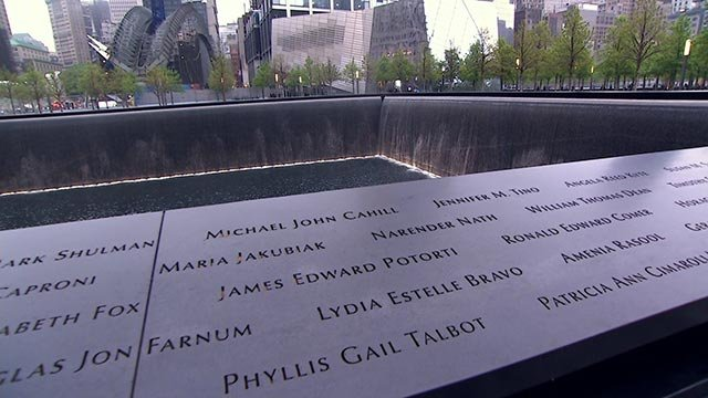 President Barack Obama marked the dedication of the long-awaited September 11 Memorial Museum Thursday, May 15, 2014, with the families, survivors and rescuers at the site of the worst terrorist attack on U.S. soil. (Credit: POOL)