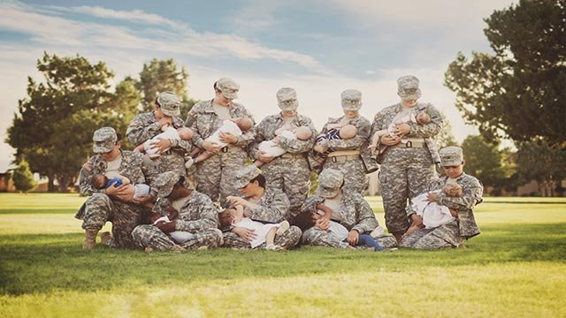 Former airwoman Tara Ruby photographed active duty soldiers at Fort Bliss in El Paso, Texas when she learned the base recently opened a nursing room, something not available when Ruby was serving from 1997 to 2001. (Credit: Tara Ruby)