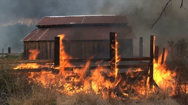 The Valley Fire, about 115 miles west of Sacramento, quickly spread to 50,000 acres by nightfall.