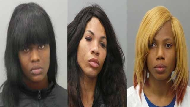 Three women were taken into custody following a prostitution sting at luxury hotels in Clayton, police said.
