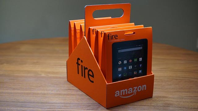 Amazon has made a $50, 7-inch Fire tablet. The bottom-of-the-line device is so inexpensive, Amazon is even selling it in six packs. Get six tablets for the price of five -- $250. (Credit: Amazon)