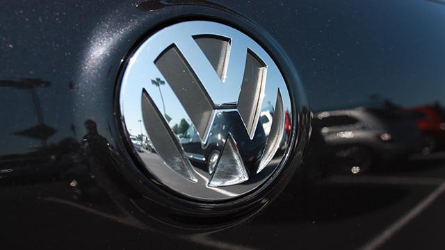 Volkswagen, logo, dealership Graphics Project (Credit: William Walker/CNN)