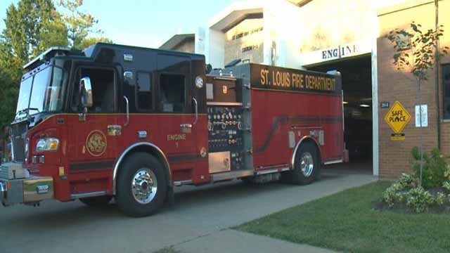 St. Louis Fire Department truck (Credit: KMOV)