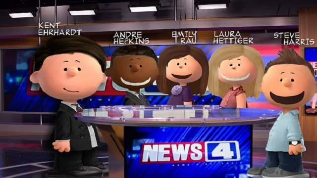 The News 4 This Morning crew 'Peanutized'.