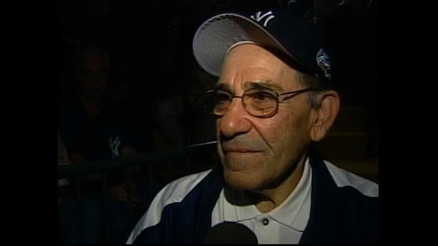 Yogi Berra is interviewed at the Yogi Berra Museum in New York. (Credit: CNN)