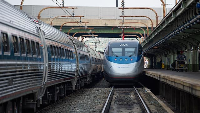 An Amtrak train  (AP Photo/Molly Riley)