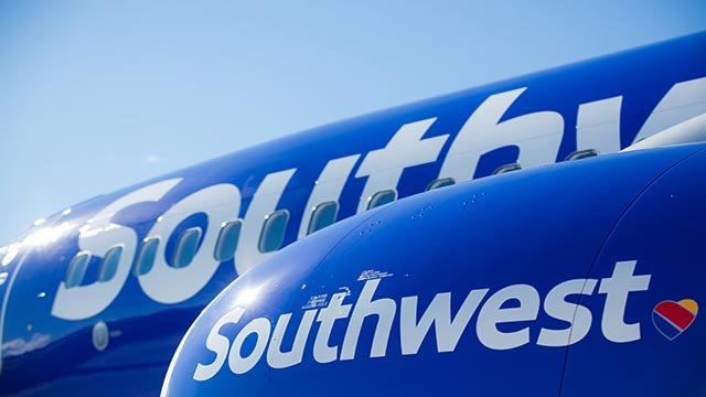 A publicity photo of Southwest Airline's new aircraft livery. The airline unveiled its new design September 8, 2014. (Credit: Southwest)