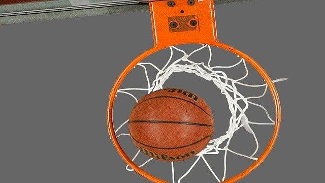 Generic image of basketball and hoop.