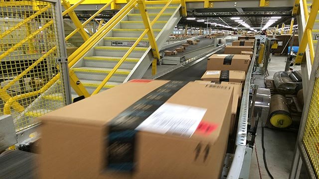 Amazon Fulfillment Center processed 426 orders per second on Cyber Monday, December, 1, 2014. (Credit: Damir Loretic/CNN)