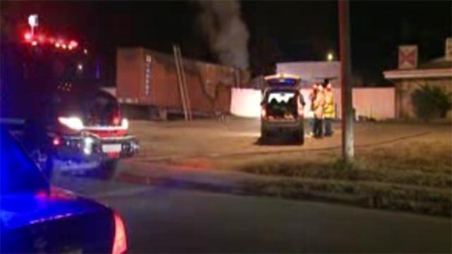 Around 2:45 a.m., a tractor trailer was overcome with flames in the 6200 block of Church Road in Centreville.