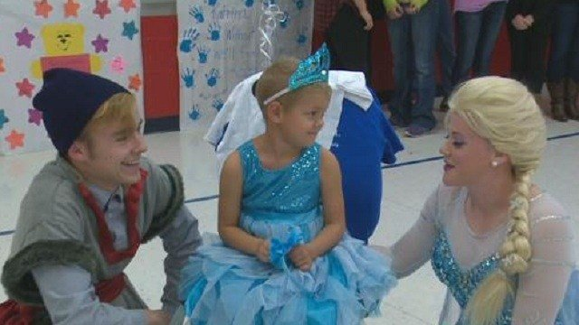 Katrina Scannell, 5, was surprised with a trip to Disney World, all thanks to the Make-A-Wish Foundation.