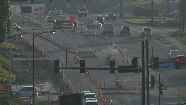 Fifth Street construction in St. Charles County (Credit: KMOV)