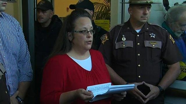 Rowan County, Kentucky, Clerk Kim Davis  (Credit: CNN)