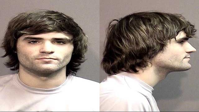 Hunter Park, 19, of Lake St. Louis was arrested for making a terrorist threat.