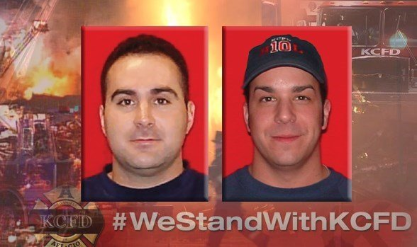 John V. Mesh, a 13-year department veteran, left, was working on Pumper 10. Larry J. Leggio, a 17-year department veteran, was assigned to Truck 2.   Read more: http://www.kctv5.com/story/30365632/woman-charged-with-murder-in-kcfd-firefighters-deaths#ixzz
