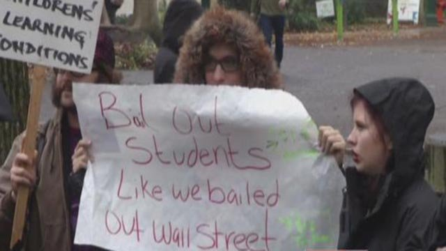 A student protester (Credit: CNN)