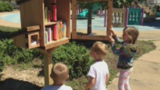 """Kirkwood school district builds a """"little library"""" for the younger kids"""