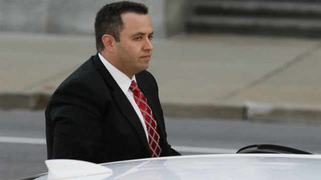 Former Subway pitchman Jared Fogle arrives at the federal courthouse in Indianapolis, Thursday, Nov. 19, 2015. Fogle is due to formally plead guilty and be sentenced on charges of trading child pornography and paying for sex with minors. (AP Photo/Michael