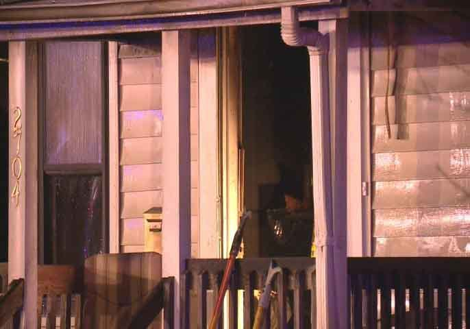 Firefighters fight blaze at home near Midland and Osgood.