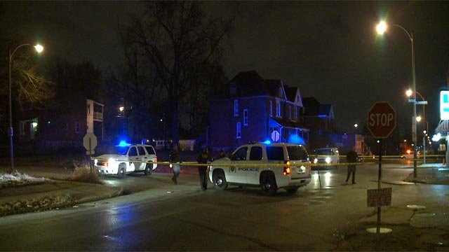 Police found the man with the wound on Labadie and North Newstead around 1:05 a.m.