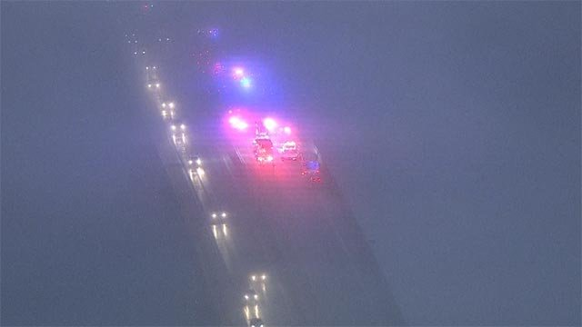 Fog and icy road conditions caused issues on St. Louis roads Friday morning