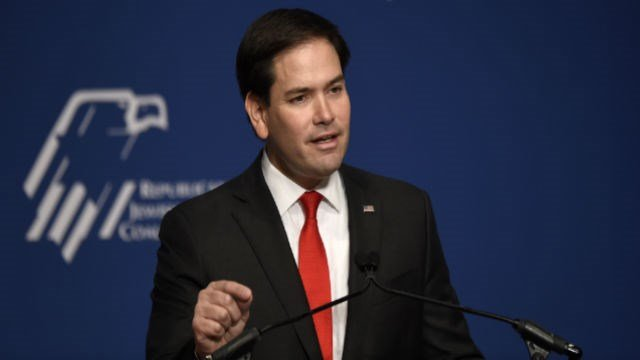 Republican presidential candidate, Sen. Marco Rubio, R-Fla. speaks at the Republican Jewish Coalition Presidential Forum in Washington, Thursday, Dec. 3, 2015. (AP Photo/Susan Walsh)