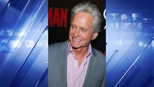 """Michael Douglas attends a special screening of """"Ant-Man"""" hosted by The Cinema Society and Audi at the SVA Theatre on Monday, July 13, 2015, in New York. (Photo by Charles Sykes/Invision/AP)"""
