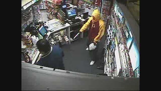 Fairview Heights police are searching for this man who robbed the Moto Mart Friday morning.