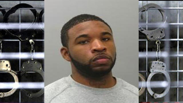 Tony Hampton, 25, is accused of leading police on a chase with a stolen vehicle.